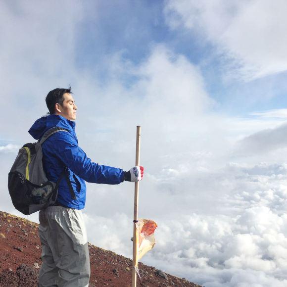 Đứng từ đỉnh núi Phú Sỹ tận hưởng cảm giác đứng trên mây (Ảnh: Sưu tầm)