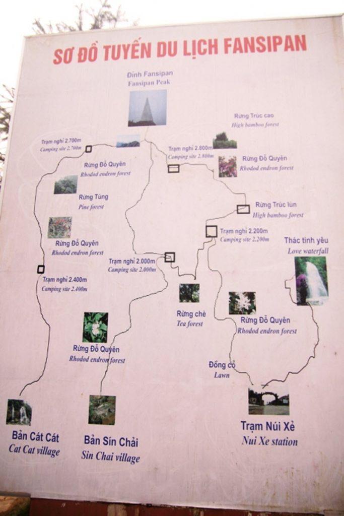 sơ đồ trekking Fansipan