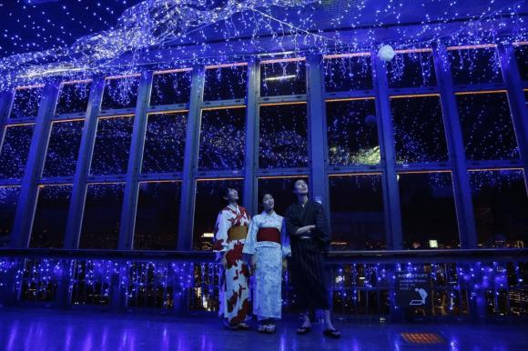 Dải ngân hà xanh trong tháp Tokyo