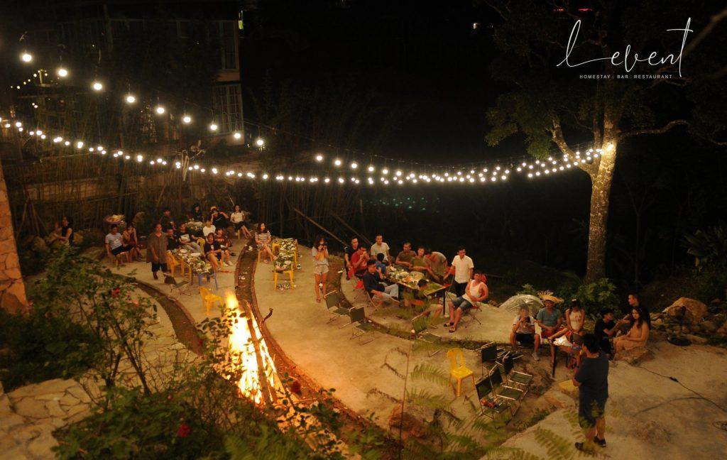 Đốt lửa trại ngoài trời ở Levent Tam Đảo