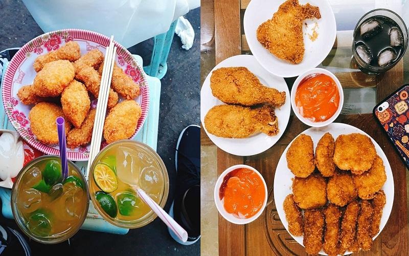 Địa điểm ăn vặt 2/9 - bánh gà thần thánh