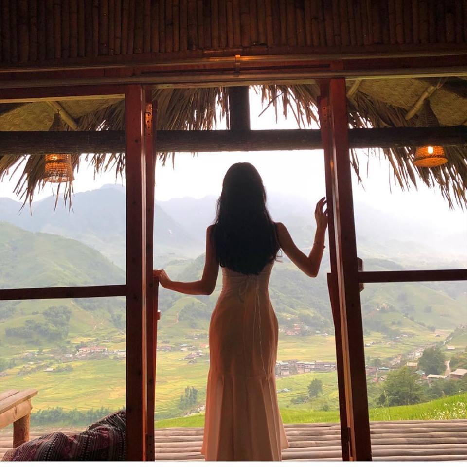 Những bungalow có view cực đẹp hướng ra những ruộng bậc thang mang đến không gian dành cho các bạn trẻ yêu thích thiên nhiên.
