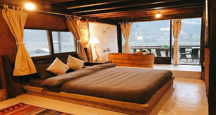 Căn phòng vip ở Lee House homestay Sapa