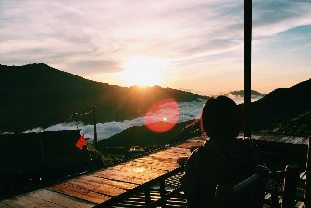 Khung cảnh lãng mạn khi đón bình minh ở Ngỗng