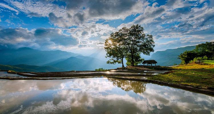 Ngỡ ngày trước vẻ đẹp Y Tý - Lào Cai mùa nước đổ