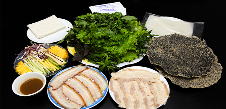 Bánh tráng thịt heo Đà Nẵng