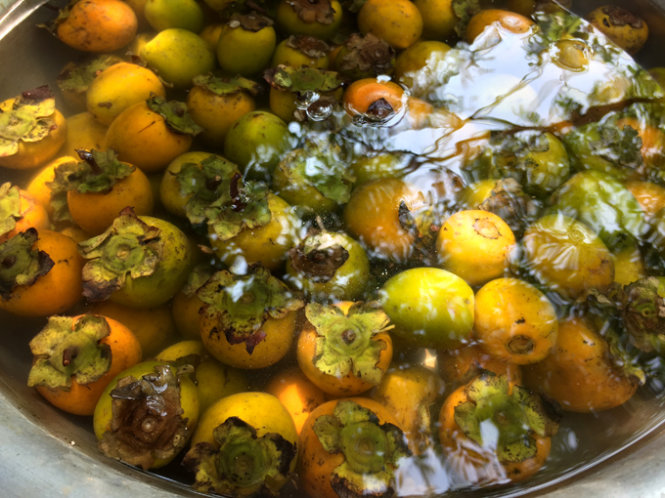 Hồng ngâm - Món ăn ngon mùa thu Hà Nội