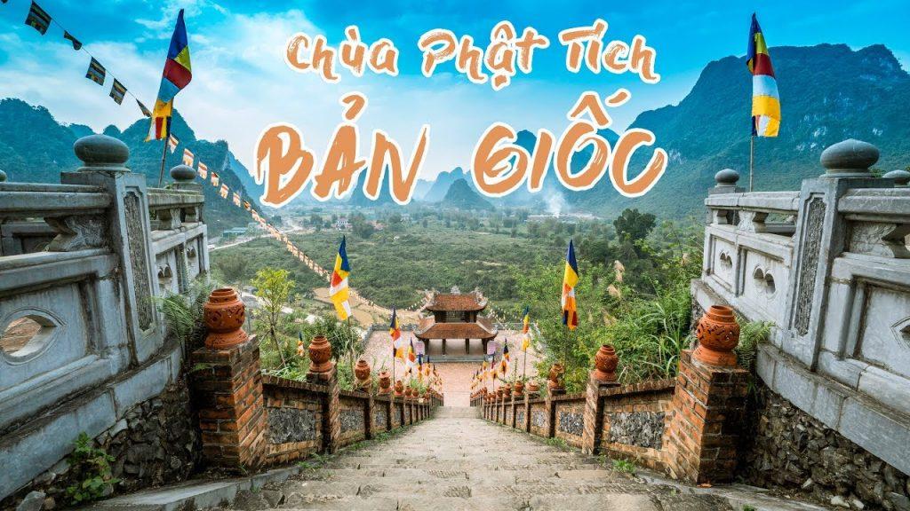 Ngôi chùa tuyệt đẹp nằm bên cạnh thác Bản Giốc