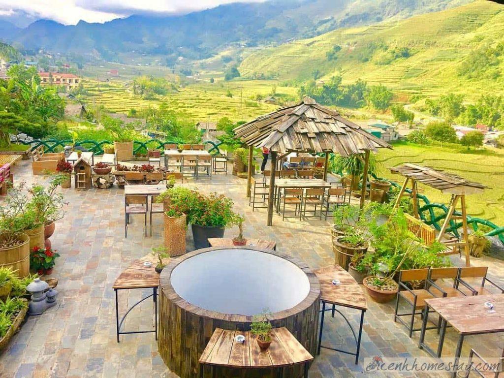 Với vị trí lý tưởng, Lá Dao là một trong những quán cà phê có view đẹp nhất Sapa.