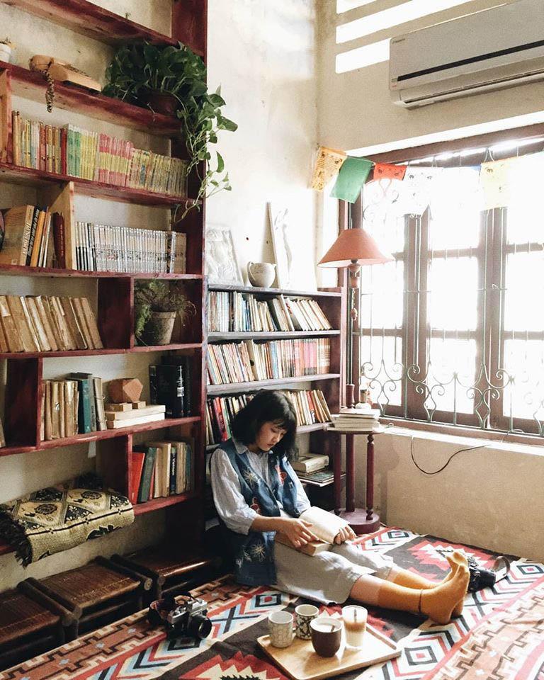 Quán cafe đọc sách Hà Nội