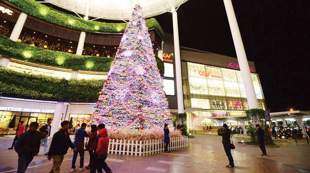 Đi chơi Noel tại Hà Nội - Aeon Mall