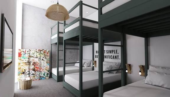 Phòng dorm của homestay