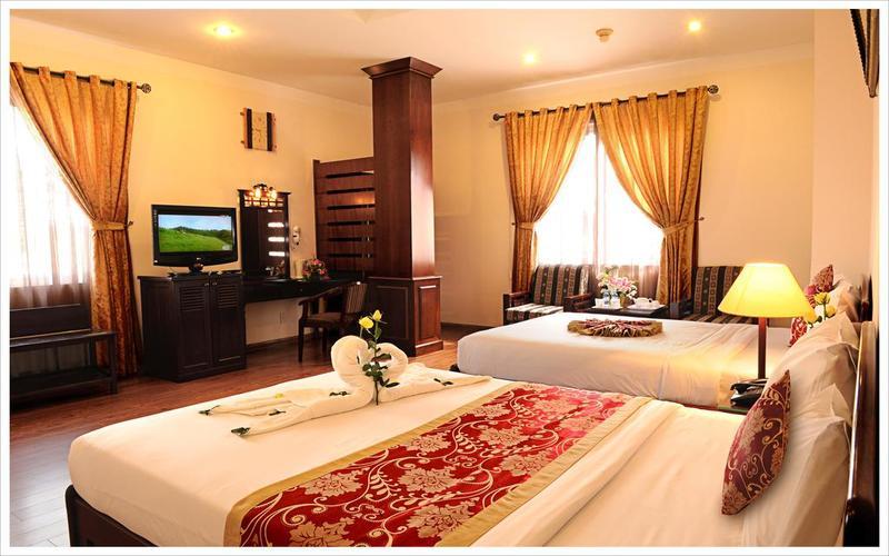 Phòng ngủ hiện ra khung cảnh đầy lãng mạn