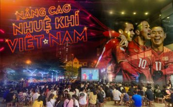 Quán trà chanh chiếu bóng đá tại Hà Nội