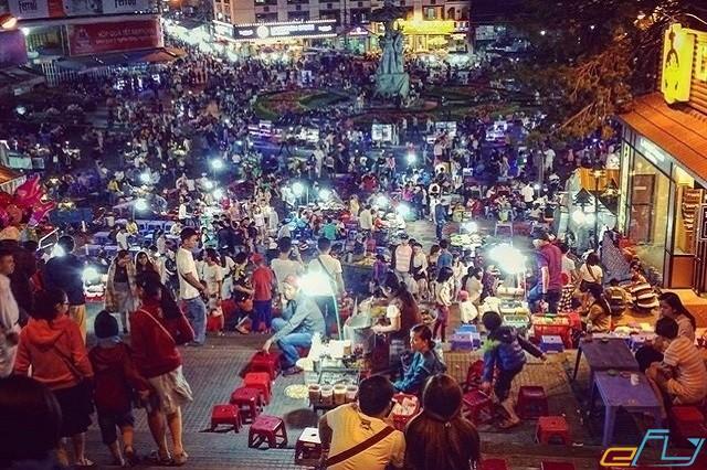 Khu chợ đêm nức tiếng đà lạt