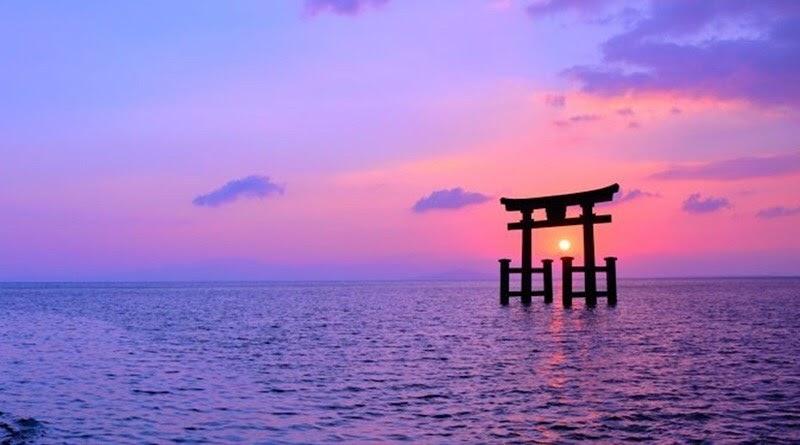 View cực đẹp để check in ở đền Shirahige