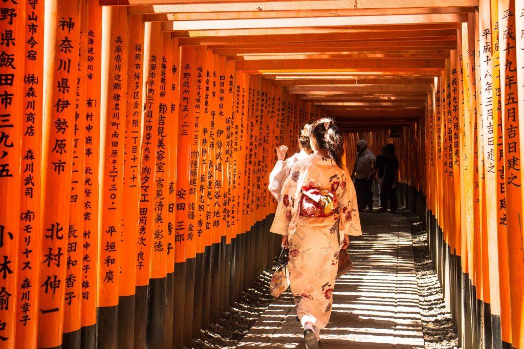 Check in trong trang phục Kimono