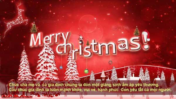 Chúc bố mẹ ngày Noel