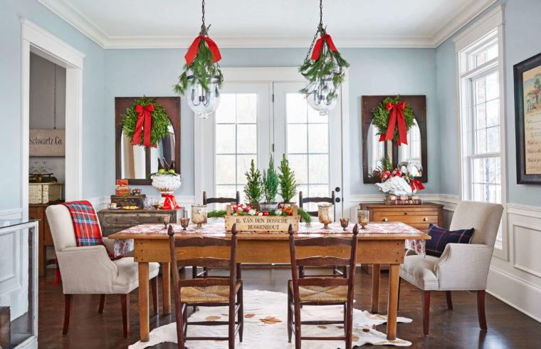 Tông chủ đạo cho ngày giáng sinh là màu đỏ, xanh lá ấm áp, giàu sức sống