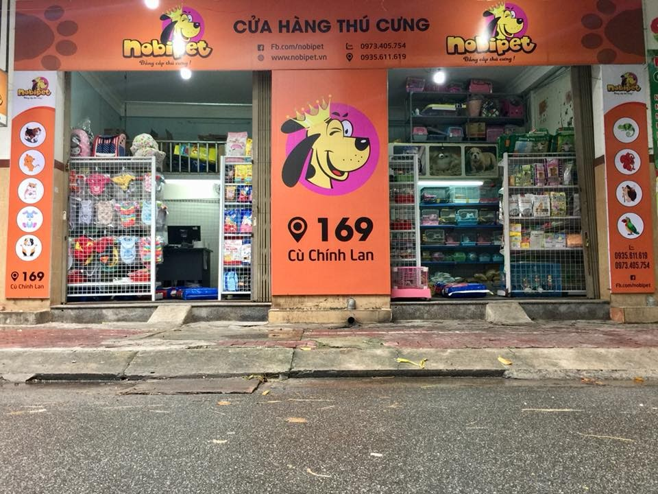 Cửa hàng thú cưng NOBIPET tại đường Cù Chính Lan