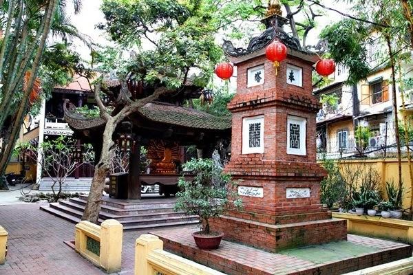 Chùa Phúc Khánh nổi tiếng là chốn linh thiêng ở Hà Nội