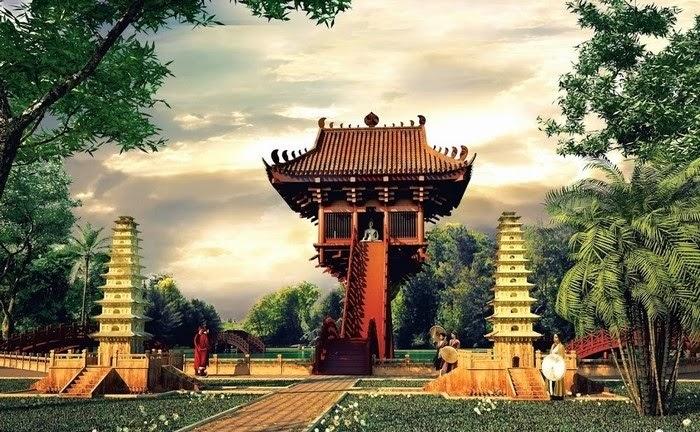 Hình ảnh chùa Một Cột từ những ngày sơ khai