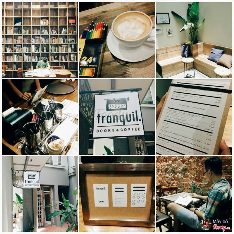 Quán cafe làm việc cho Freelancer tại Hà Nội - Tranquil Books & Coffee