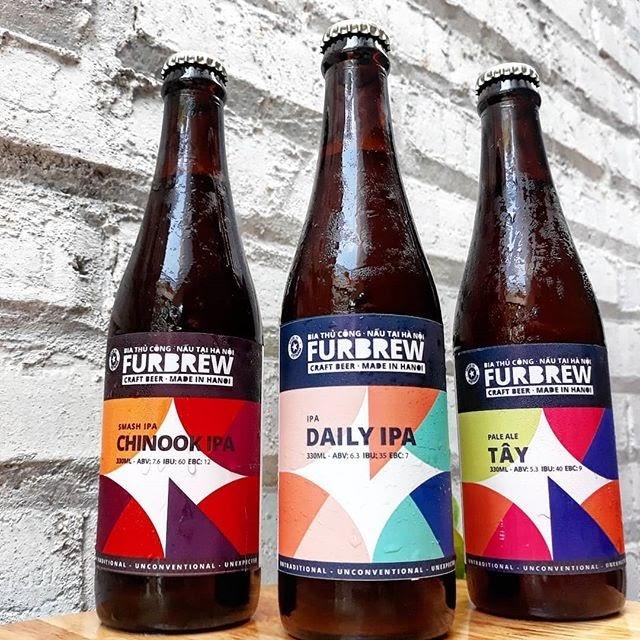 Bia thủ công Furbrew: Dòng bia Tây Pale Ale: mạch nha đậm đà, nhấn thêm nhựa thông và vị chanh. Hoa bia Motueka và Nelson Sauvin và dòng bia Chinook Smash IPA: vị nặng và nồng nàn. Có vị chanh giòn thơm ngon như bánh.