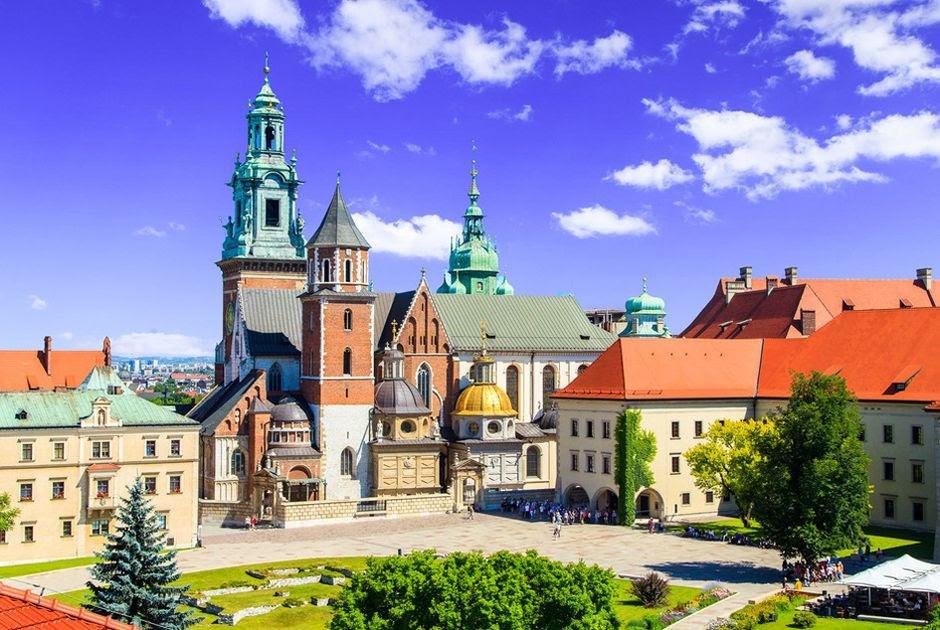 Một góc của lâu đài Wawel