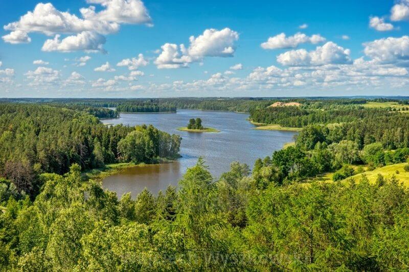 Vùng hồ Masurian nhìn từ trên cao
