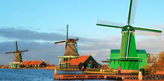 làng cối xay gió Zaanse Schans