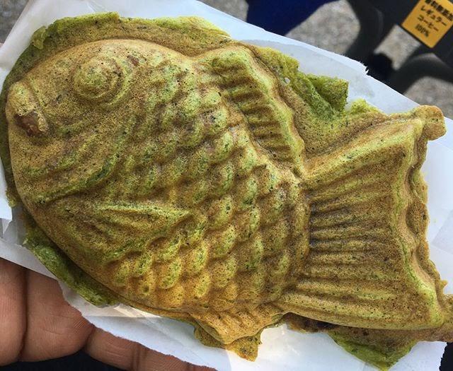 Bánh cá với nhân matcha ú nu đủ sức thỏa mãn dạ dày