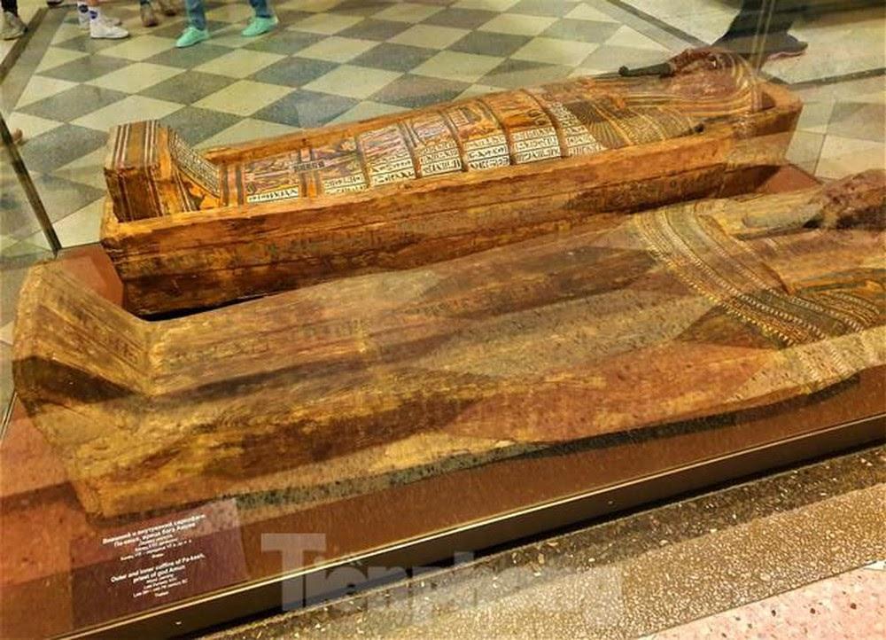 Những xác ướp Ai Cập cổ đại tại căn phòng 100. Nguồn: Báo Tiền phong
