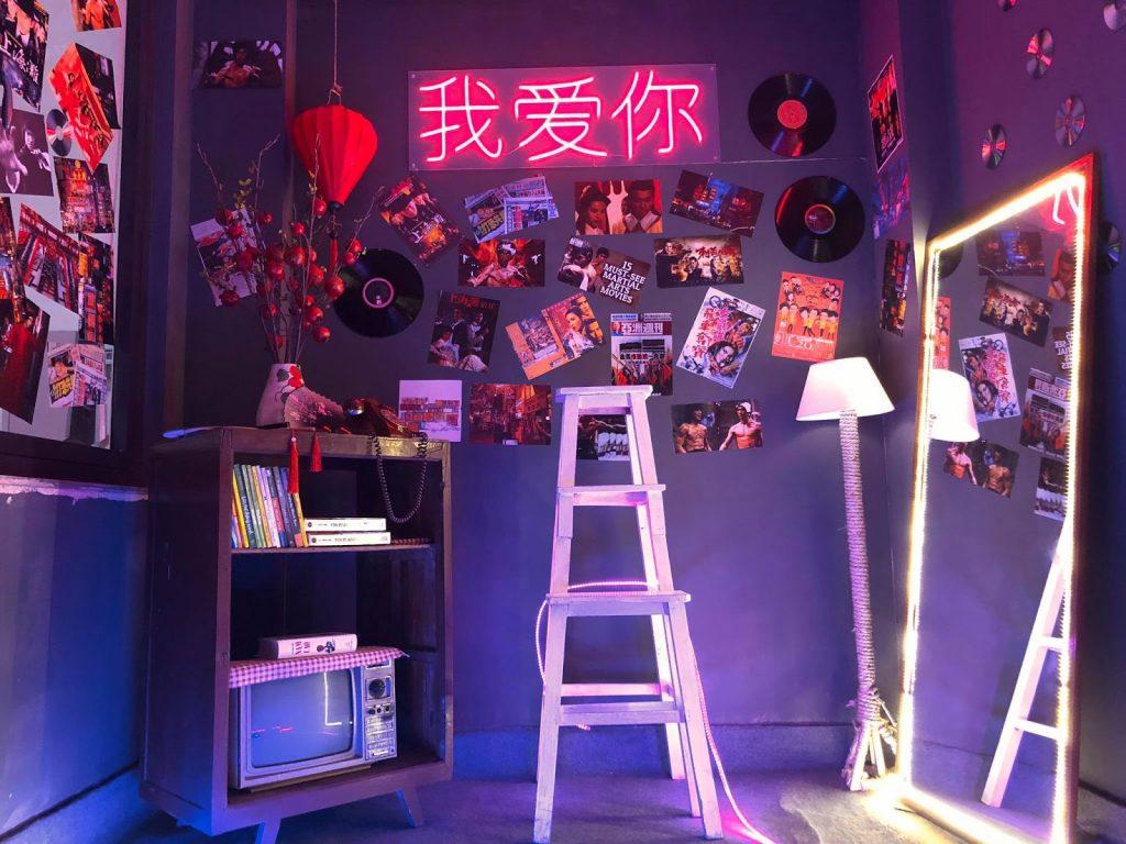 Không gian HongKong được quán set up siêu xinh