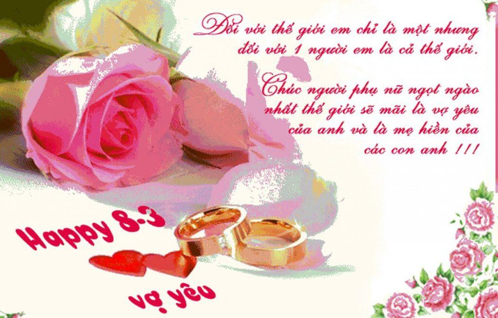 Chúc vợ ngày Quốc tế phụ nữ