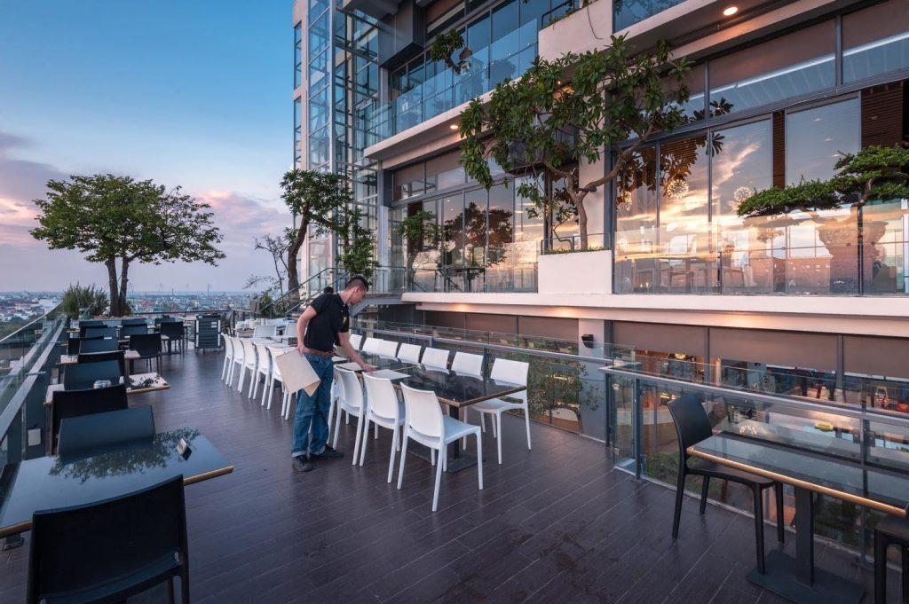 6 Degrees – Quán cafe Hồ Tây tầng thượng view đẹp