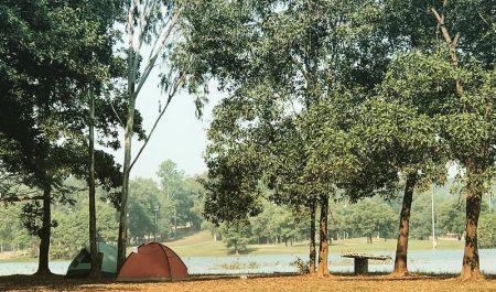 Cắm trại ở Đồng Mô