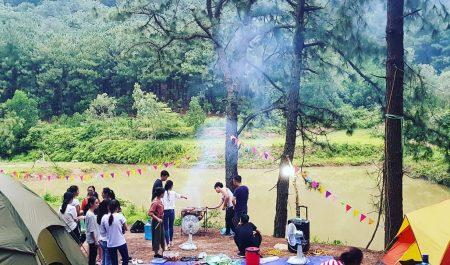 Camping tại Hàm Lợn