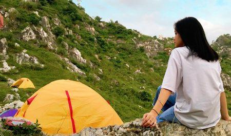 Camping tại núi Trầm