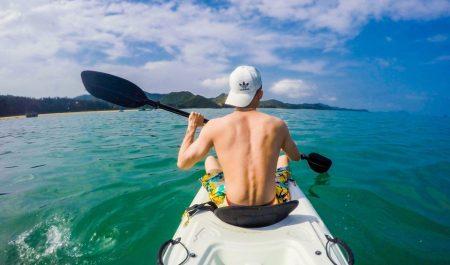 Chèo Kayak trên đảo Cái Chiên