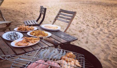 Nướng BBQ ở Bãi Đông
