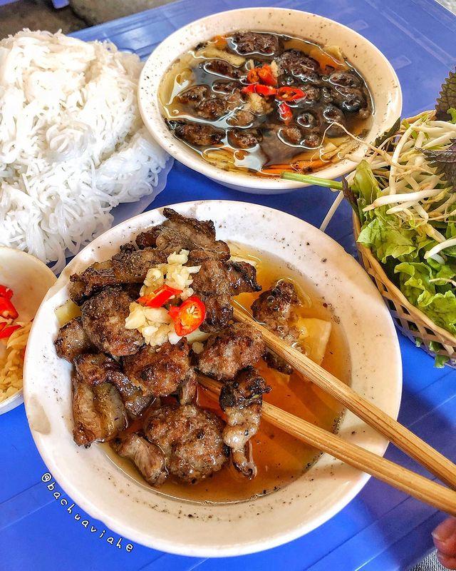 Món bún chả nổi tiếng ở Hà Nội