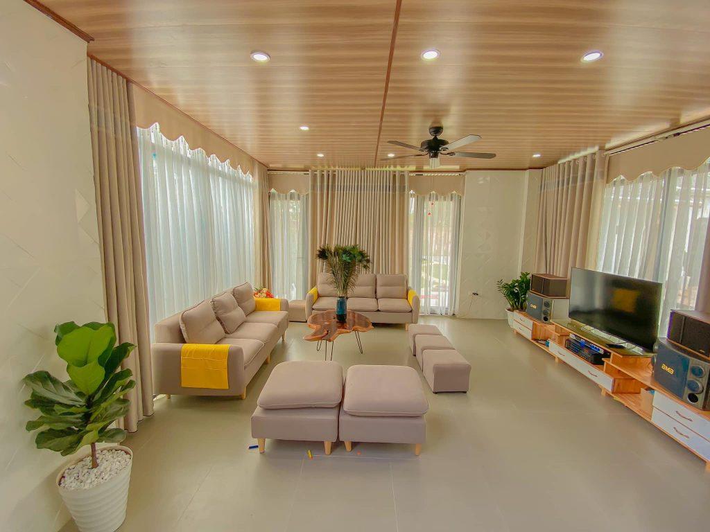 Phòng khách của căn Villa
