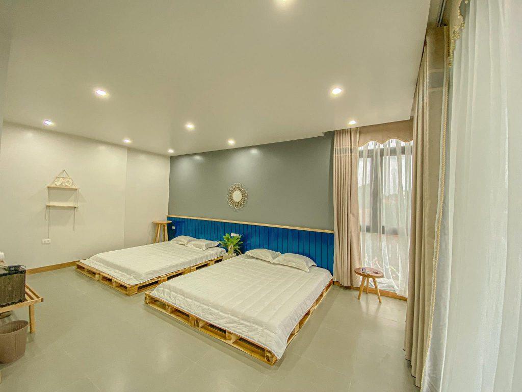 Phòng 2 giường đôi cỉa Villa LyLy Sóc Sơn
