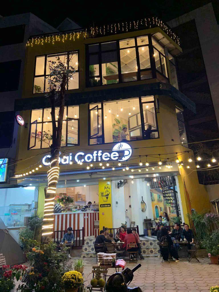 Không gian tại quán cafe OPAL COFFEE