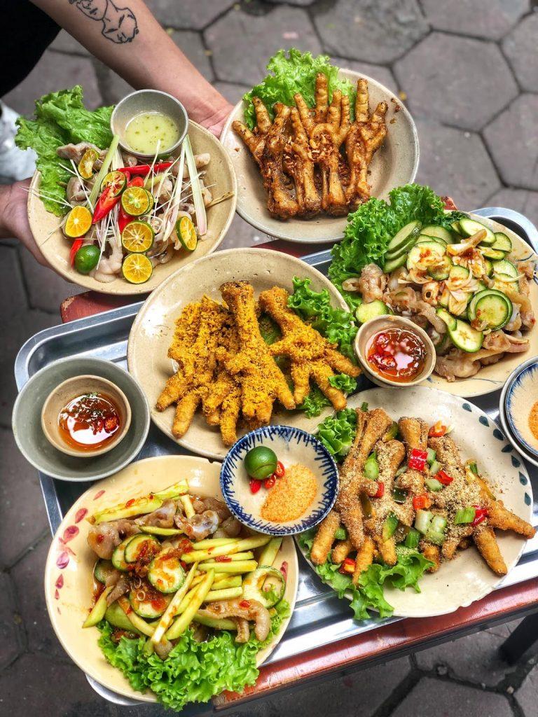 quán chân gà nướng Hà Nội