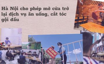 Hà Nội cho phép mở cửa các dịch vụ quán ăn, cafe